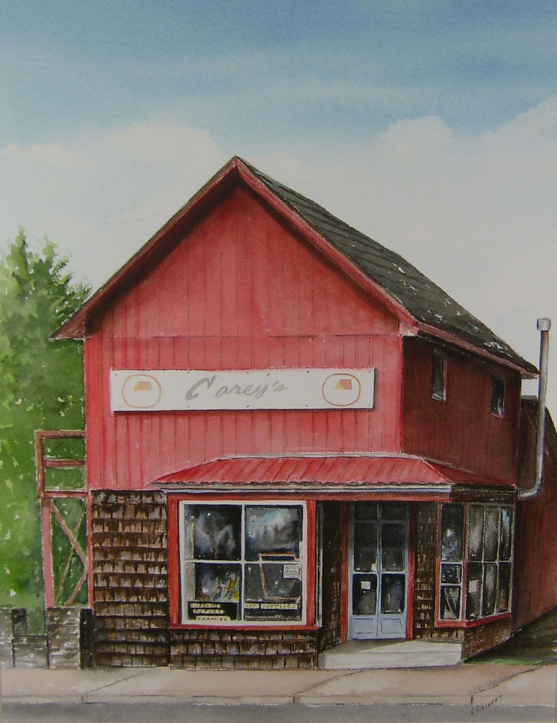 Carey's Frame Shop (Painting by Dick Chinery)